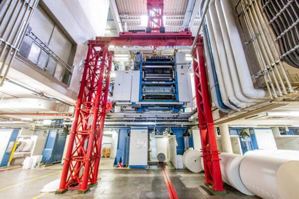 Seilzuportale für die Druckindustrie
